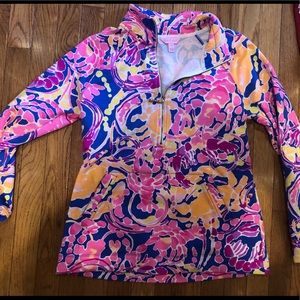 Lilly Pulitzer popover with bamboo zipper!